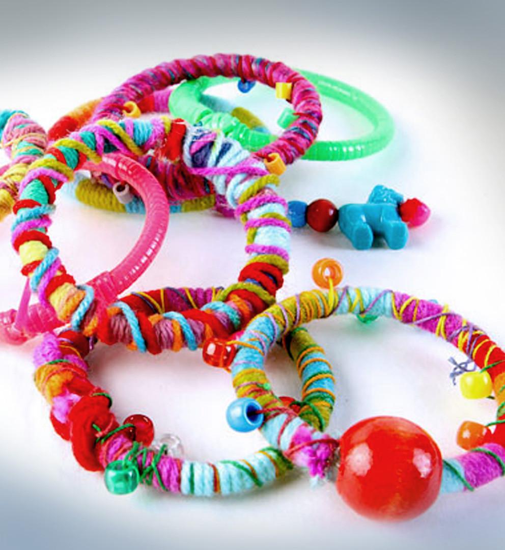 Up-cycled glow-stick bracelets