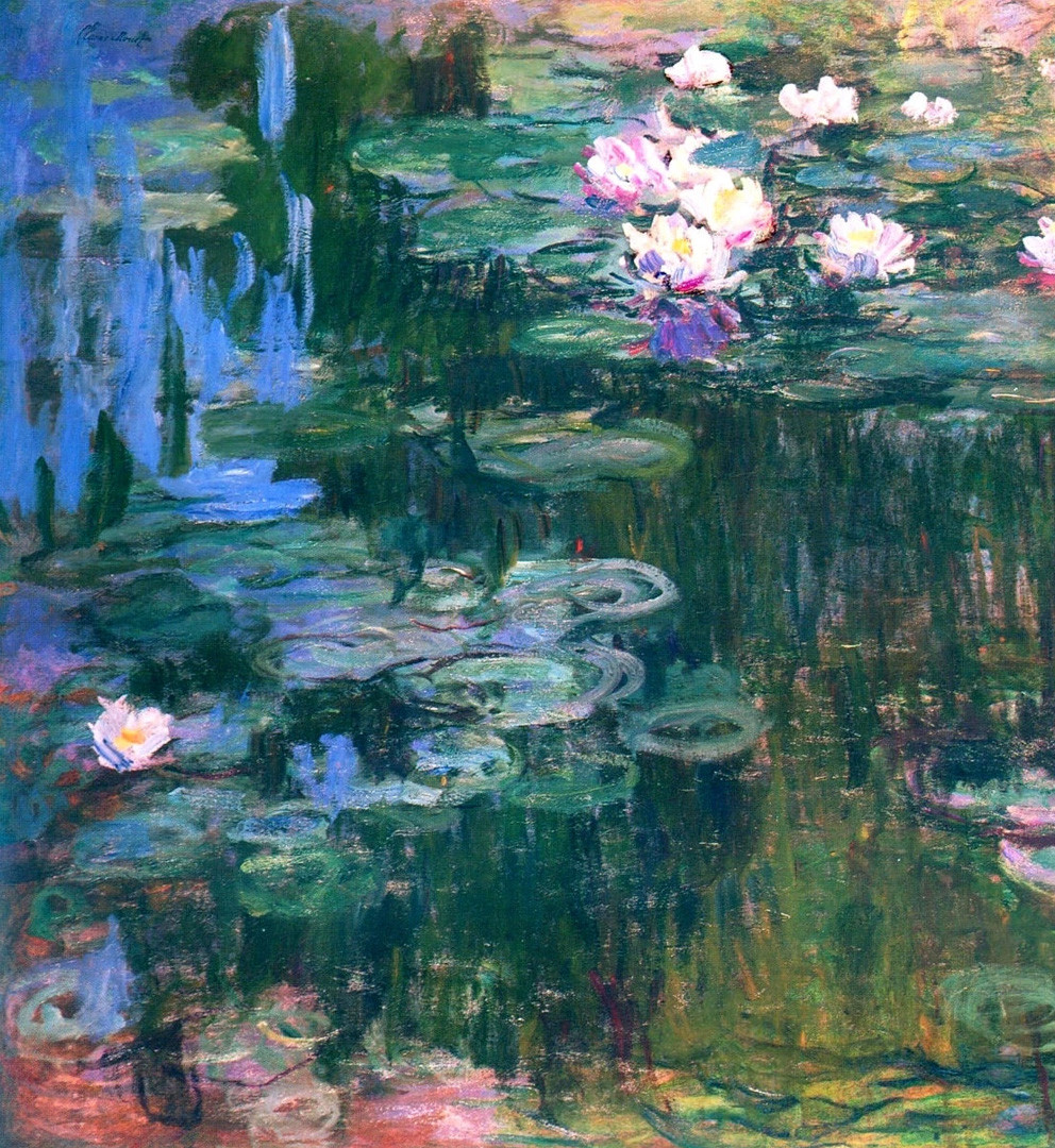 Monet's ultraviolet waterlilies.