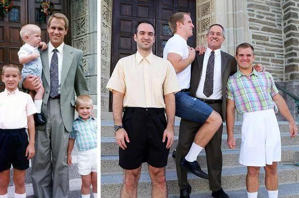 Recreating family photos