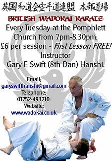 Pomphlett Church Karate Advert.jpg