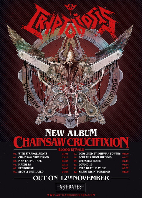 New album CHAINSAW CRUCIFIXION - out on 12th November 2021 on Art Gates Records