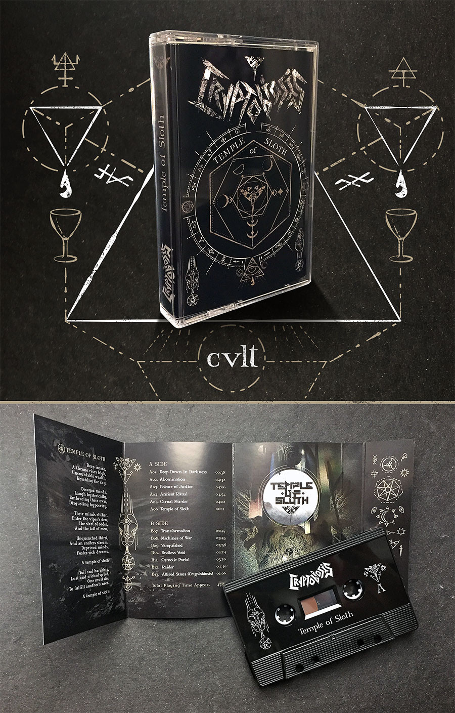 Temple of Sloth out on Audio Cassette, strictly limited to 100 copies.