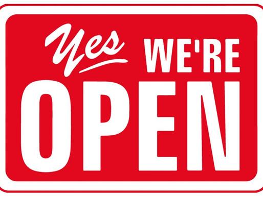 Ab sofort wieder geöffnet!!!