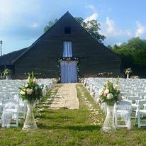Back of barn ceremony