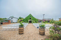 Barn front ceremony