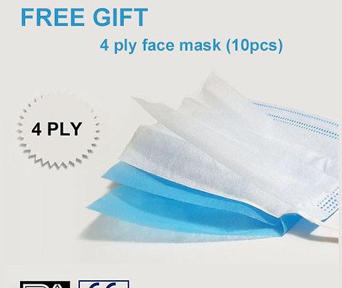50 pcs 4 Layers Disposable Face Masks