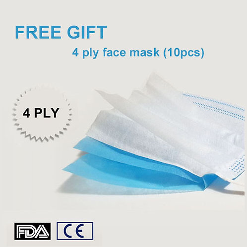 50 pcs 4 Layers Disposable Face Masks