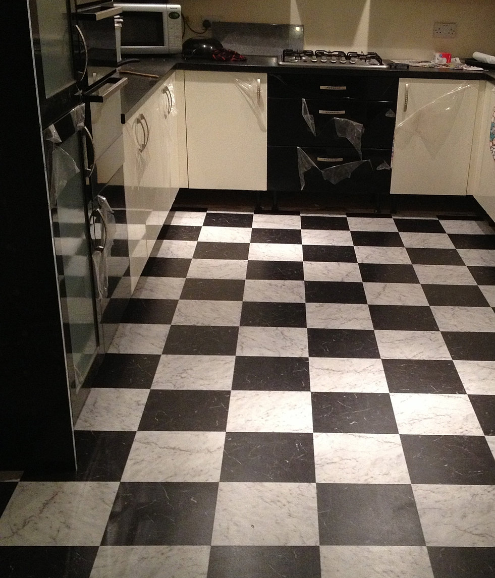 Kitchen Flooring South Africa: Black And White Karndean Flooring