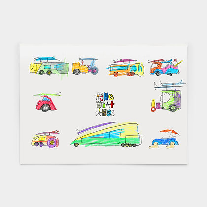 """The """"What Thes"""" Rad Car drawing & coloring book"""