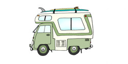 1963 VW Camper Conversion & Almond Joy + Sea kitten