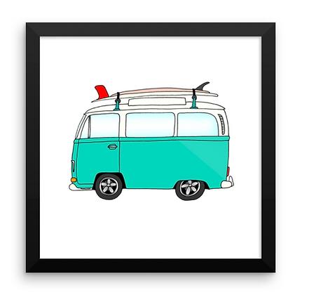 VW Bay Window Bus & Log + Egg