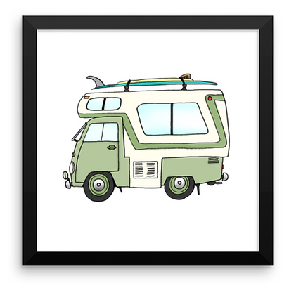 VW Camper & 2 Board Quiver
