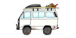 1990 VW Vanagon Syncro & 10' Log