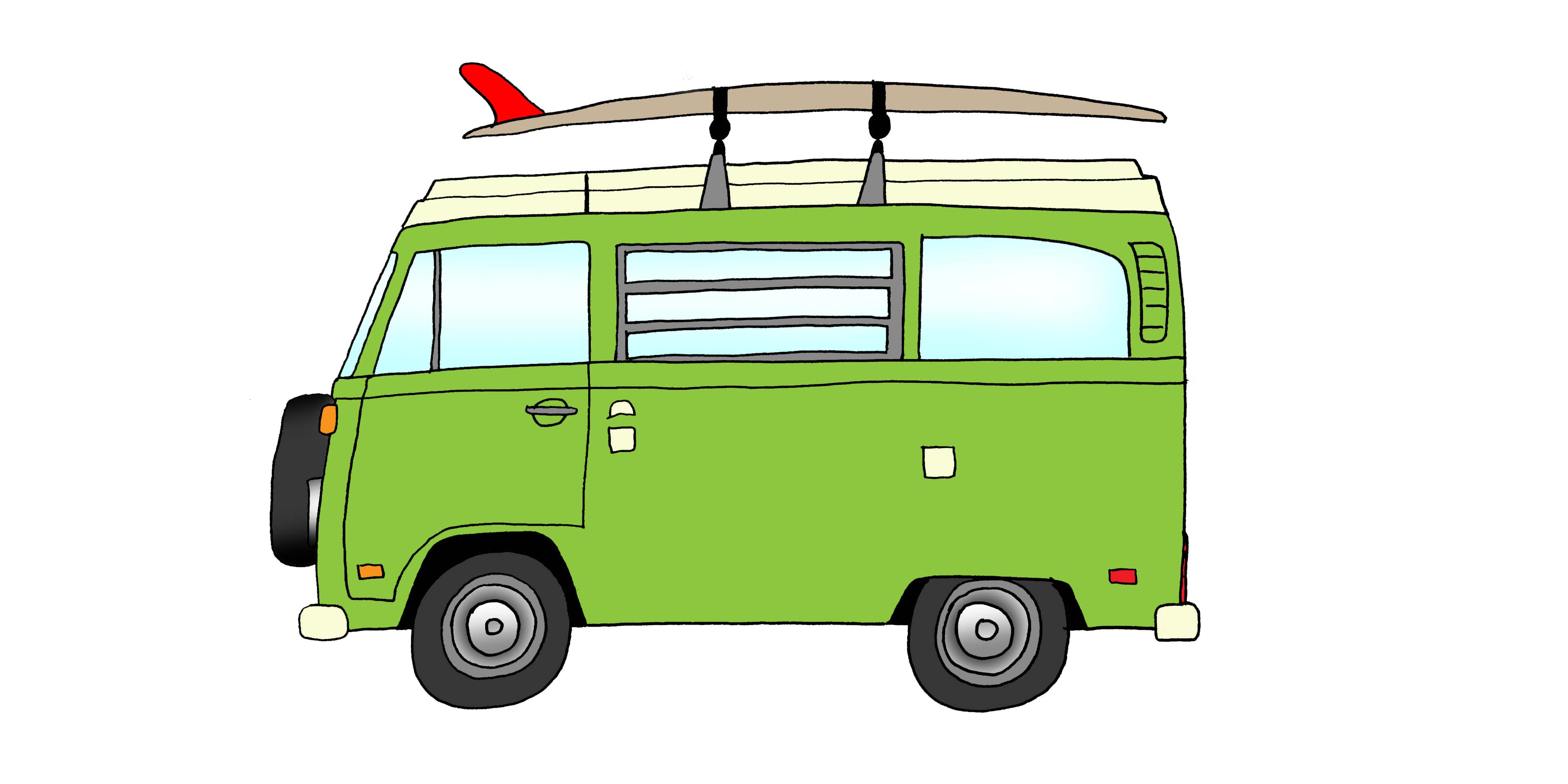1975 VW Bus Westfalia & 9'4 Lance Carson