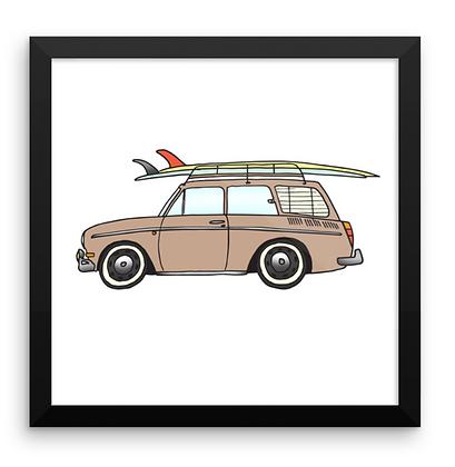 VW Squareback & 2 Logs