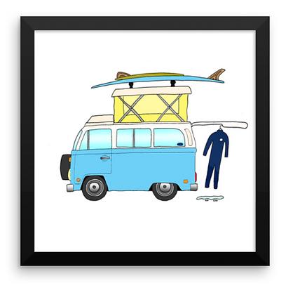VW Campmobile & Almond 2 Board Quiver