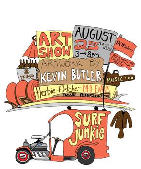 """Surf Junkie"" Art Show Featuring RCWRS"