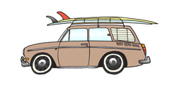 1966 fastback & 2 TReynolds Logs