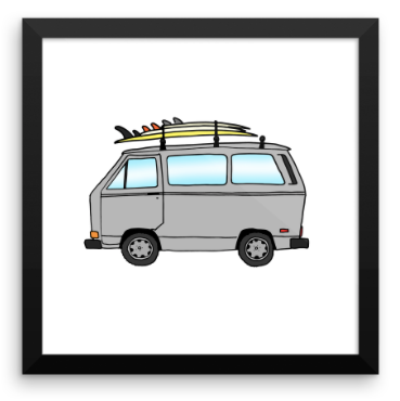 1987 VW Vanagon & 3 Board Quiver