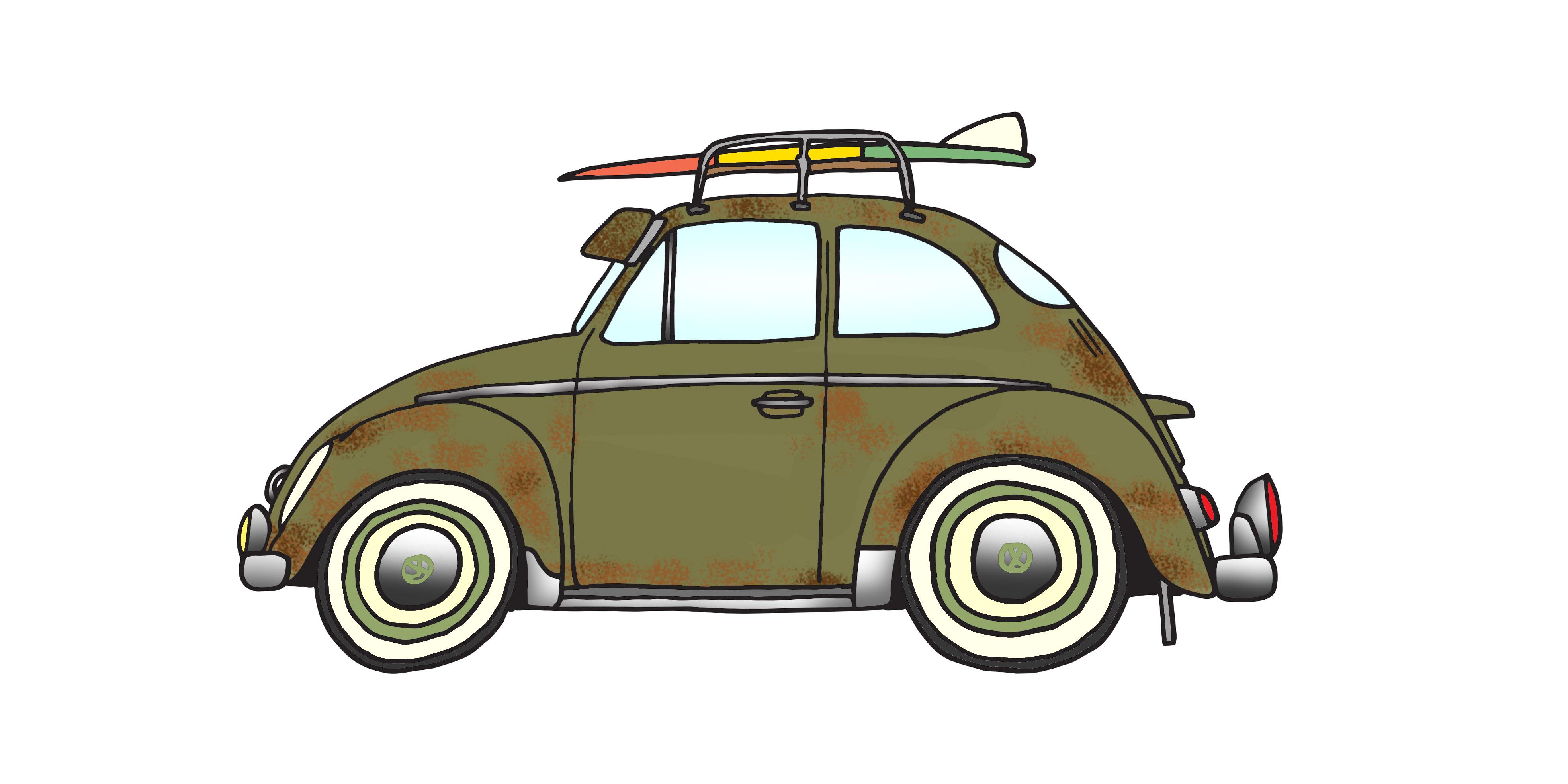 1955 Vw Oval & 5'5 mini Simm