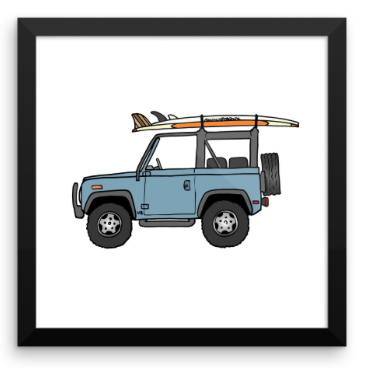 1994 Land Rover Defender & 2 Logs