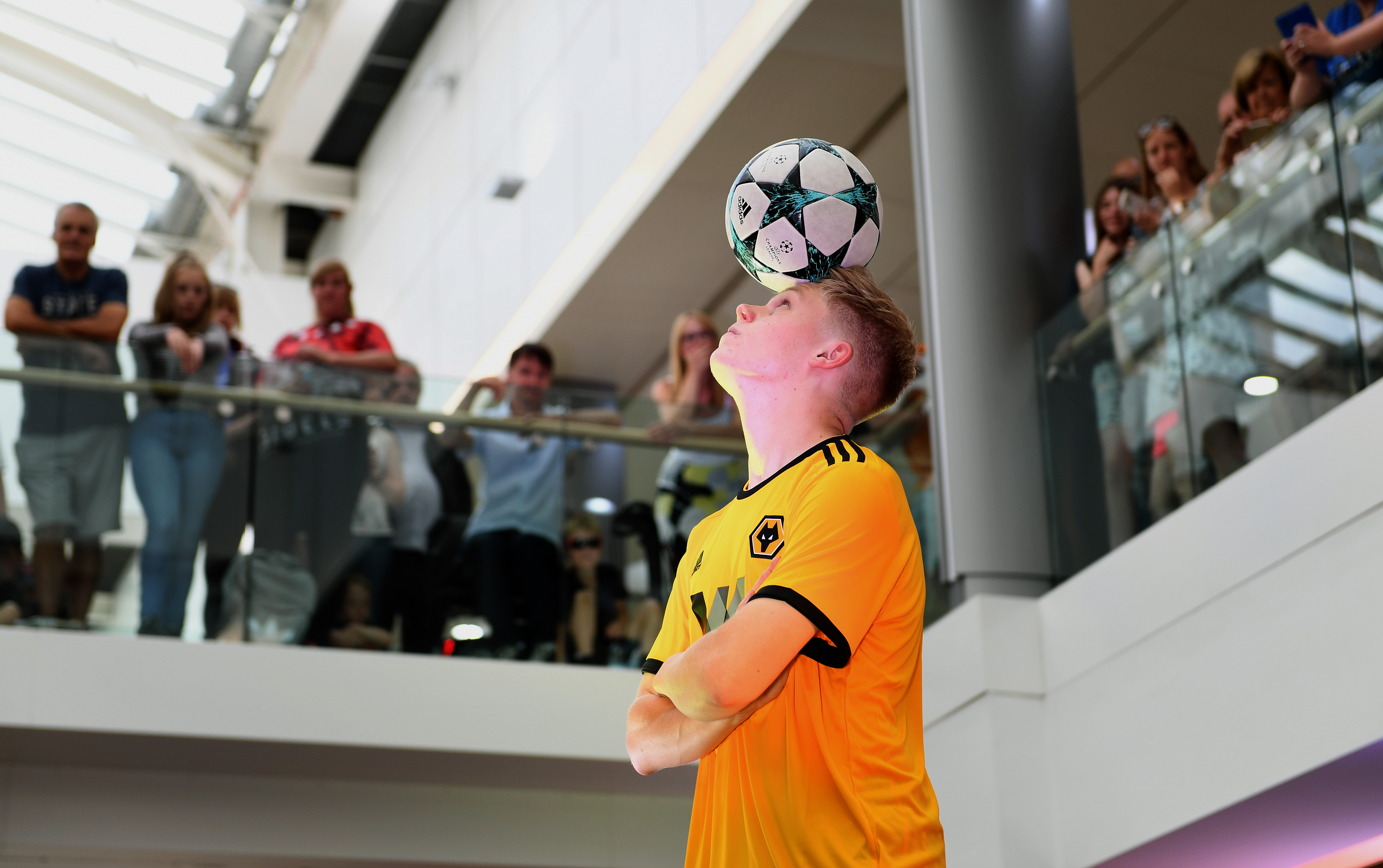 Performing for the Wolves kit launch
