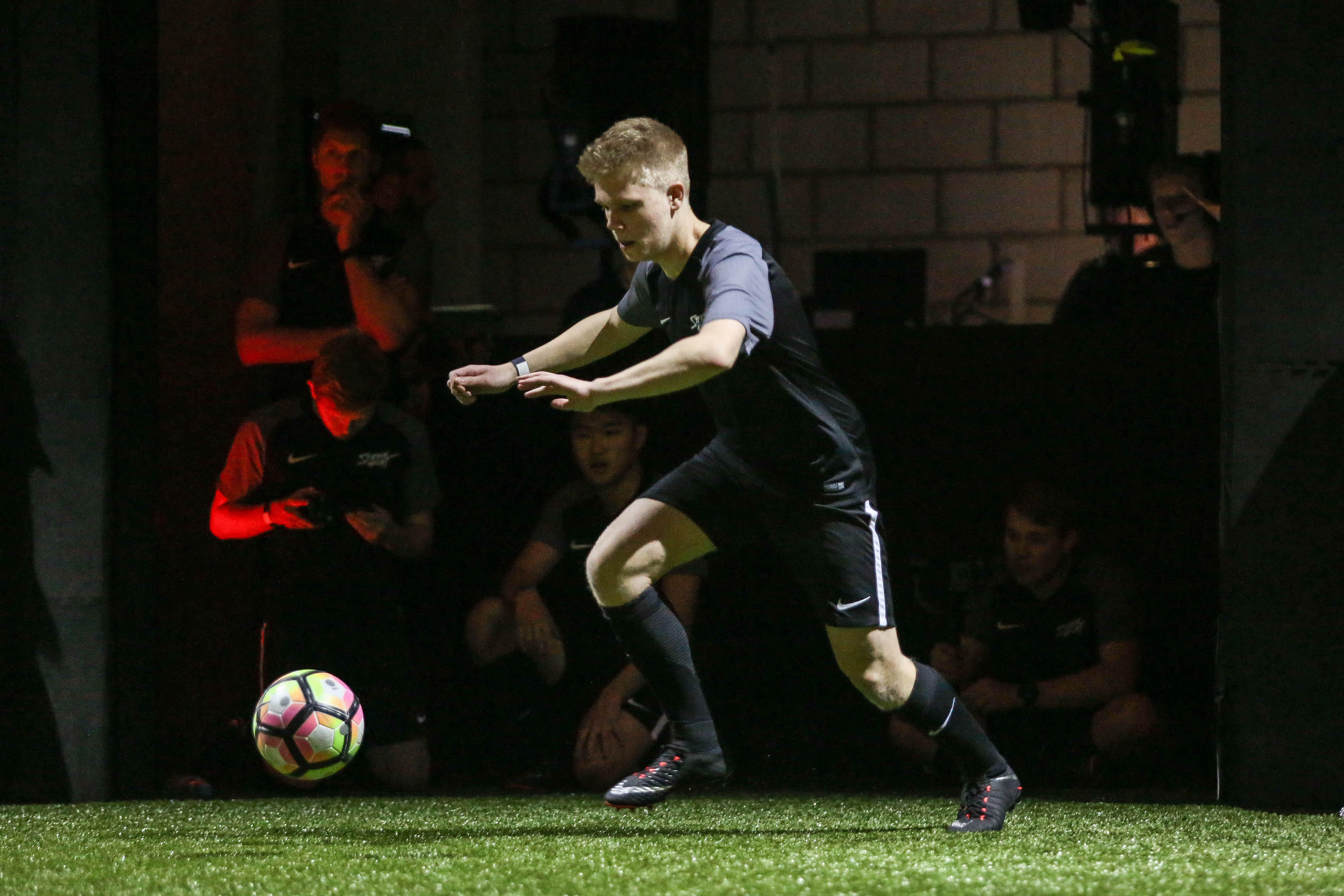 At the 'Nike Strike Night' event