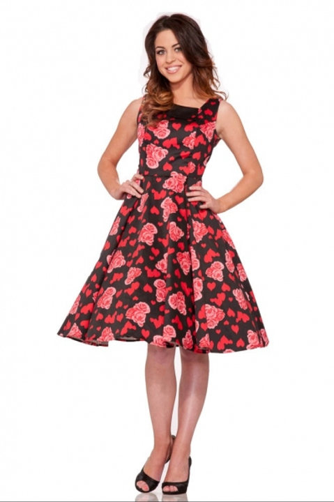 Heart and Roses Swing Dress