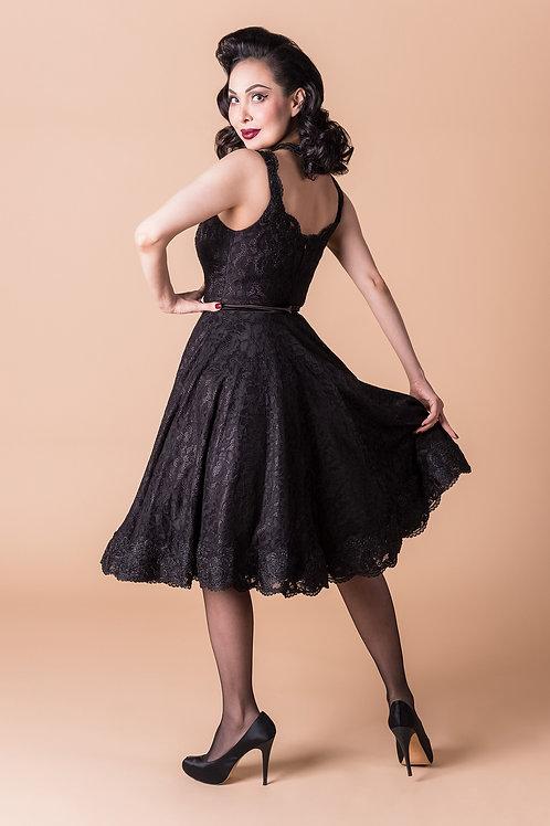Estella Circle Dress in Black As My Soul