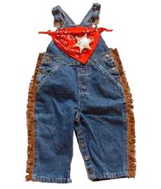 Cowboy Bib Overalls Bandanna