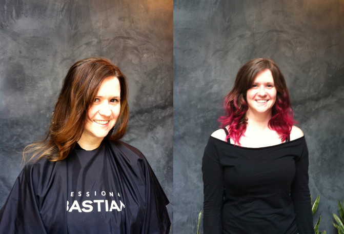 Pretty in Pink -  Before and After