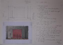 Sketch Set Design of the ACT I