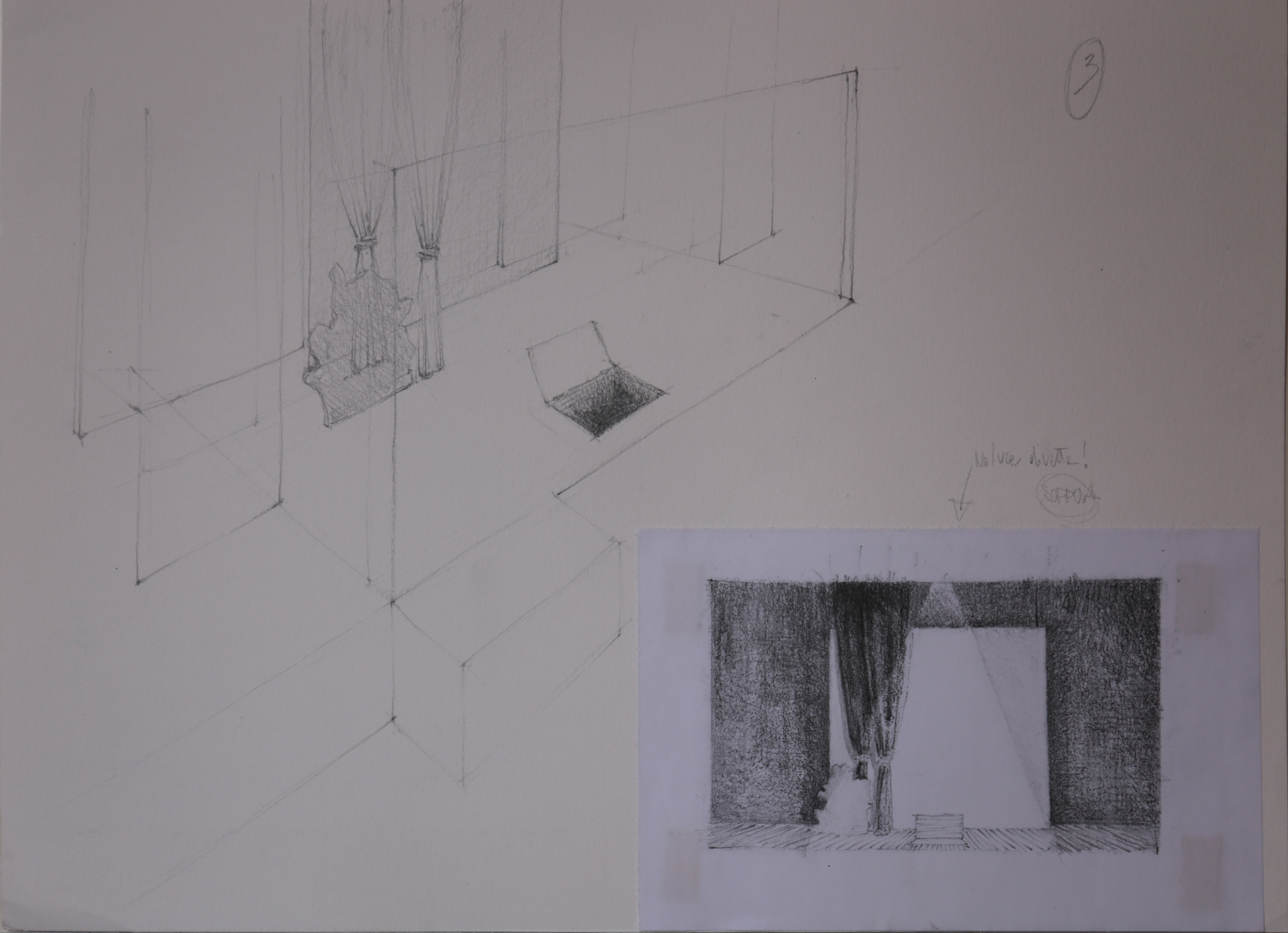 Sketch Set Design of the ACT II
