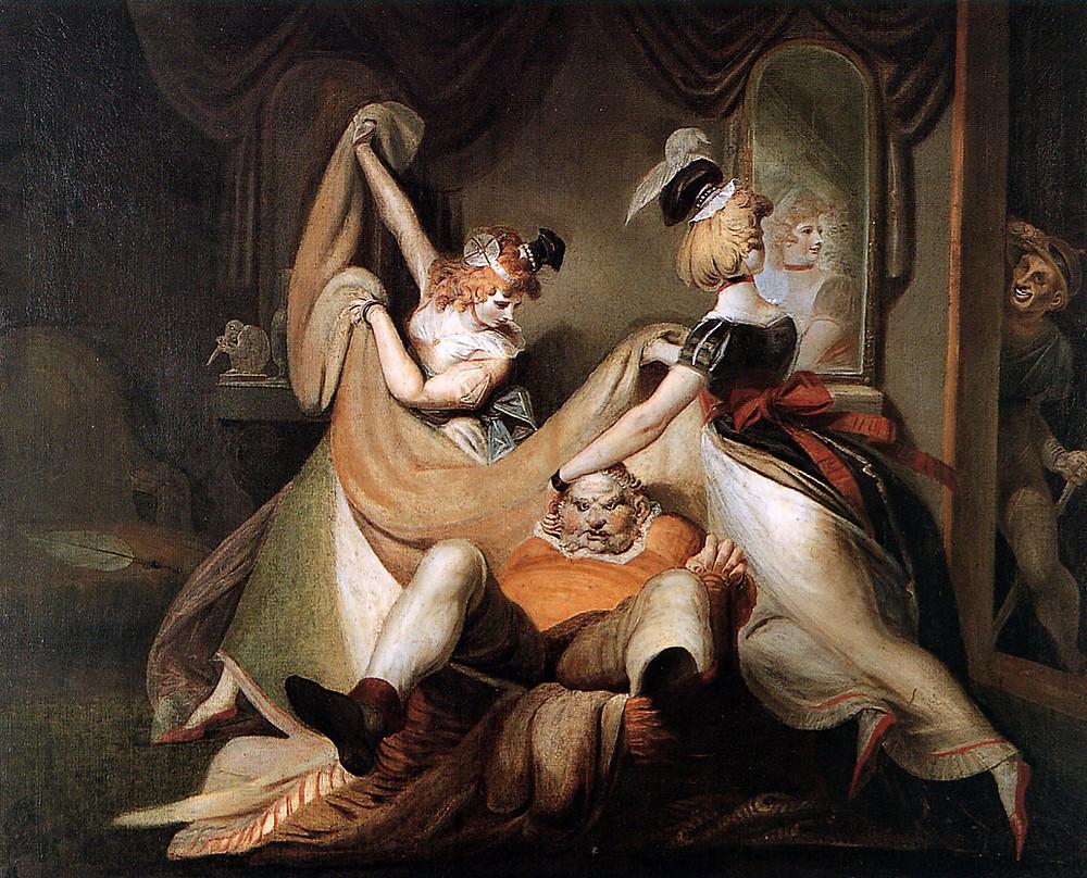 Falstaff in the bascket, HEINRICH FÜSSLI, Zurich 1792