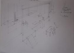 Sketch Set Design of the ACT III