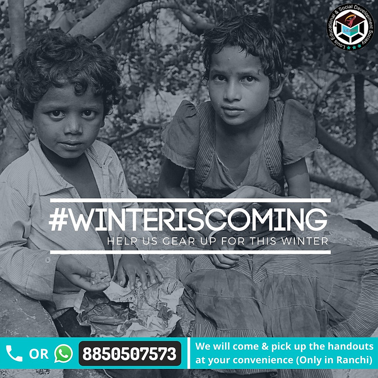 #WinterIsComing – Clothes Collection Drive by LEADS, Ranchi