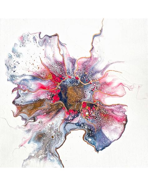 Oeuvre abstraite par l'artiste peintre Mélyna Leclerc
