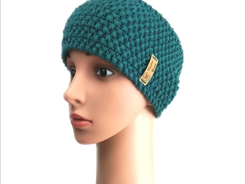 Stirnband Perlmuster grün