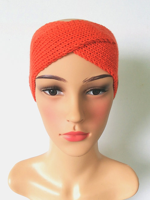 Stirnband Twist Merino Orange