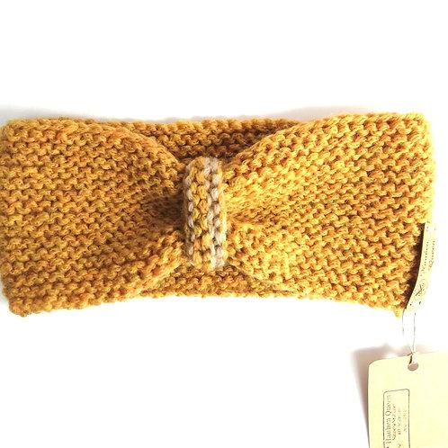 Stirnband Schleife honig/beige