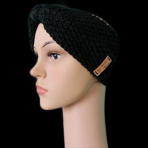 Modell Gipsy Stirnband handgestrickt schwarz