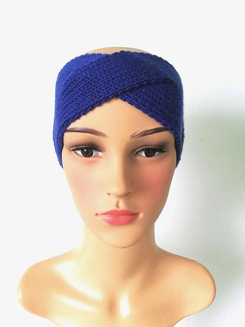 Stirnband Twist Merino Enzian