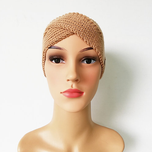 Stirnband Twist Merino Kamel