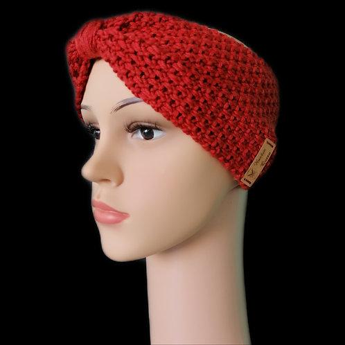 Modell Gipsy Stirnband handgestrickt cayenne