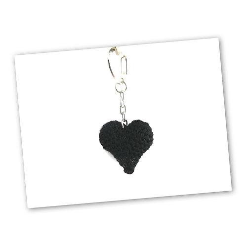 Schlüsselanhänger Herz schwarz