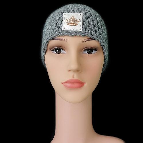 Modell Daisy Stirnband gehäkelt grau