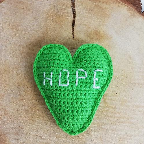 Gesprächsherz grün HOPE