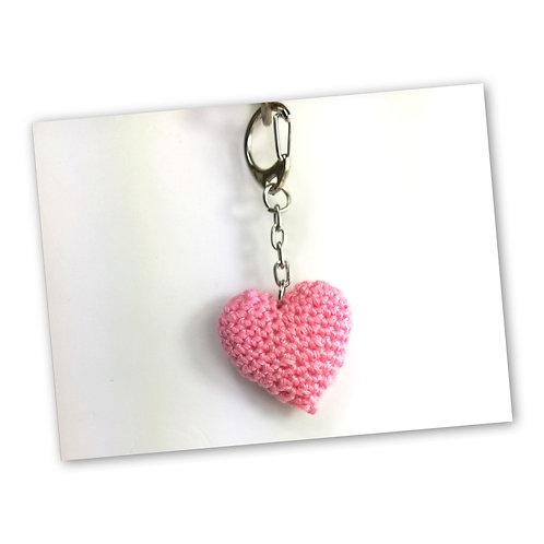 Schlüsselanhänger Herz rose