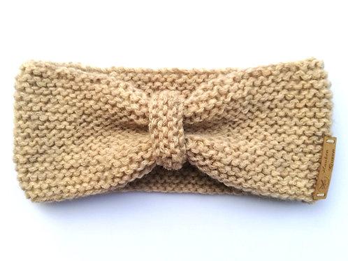 Stirnband Schleife beige