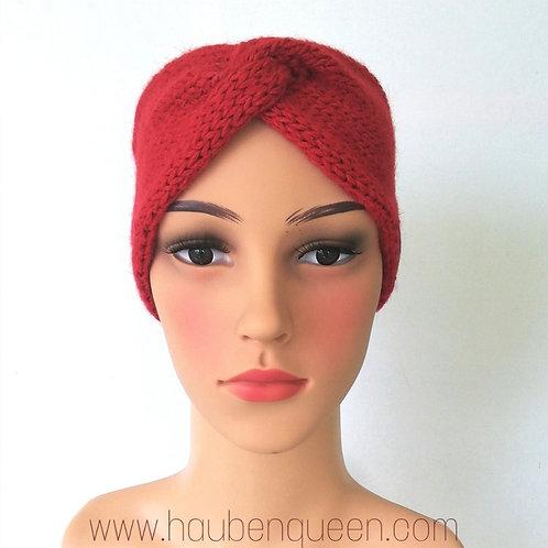 Knotenstirnband Rot